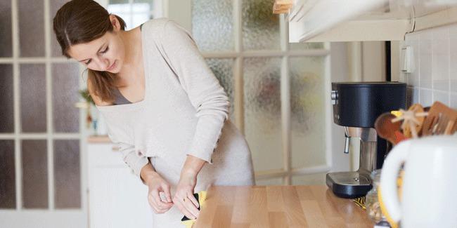 cara membersihkan dapur