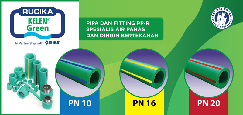 Jenis Produk Pipa Air Panas - Rucika Kelen Green