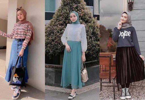 Perpaduan Macam-macam Rok Untuk Para Hijabers yang Stylish